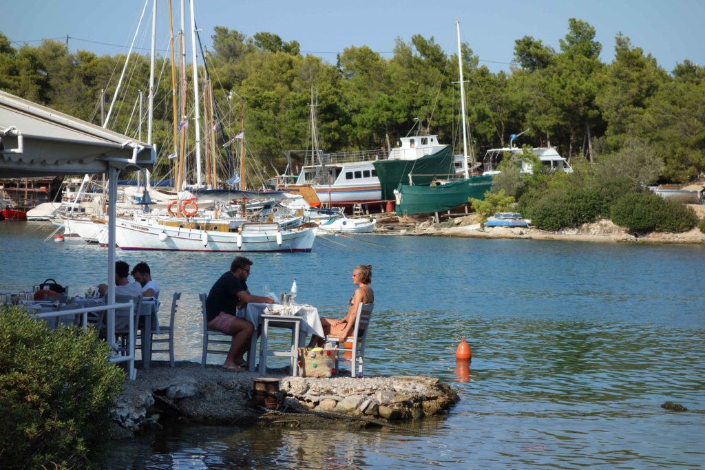 на яхте по Греции