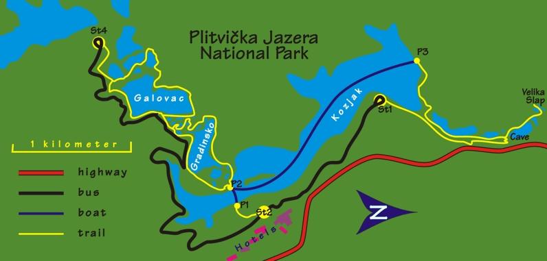 Плитвицкие озера маршрут